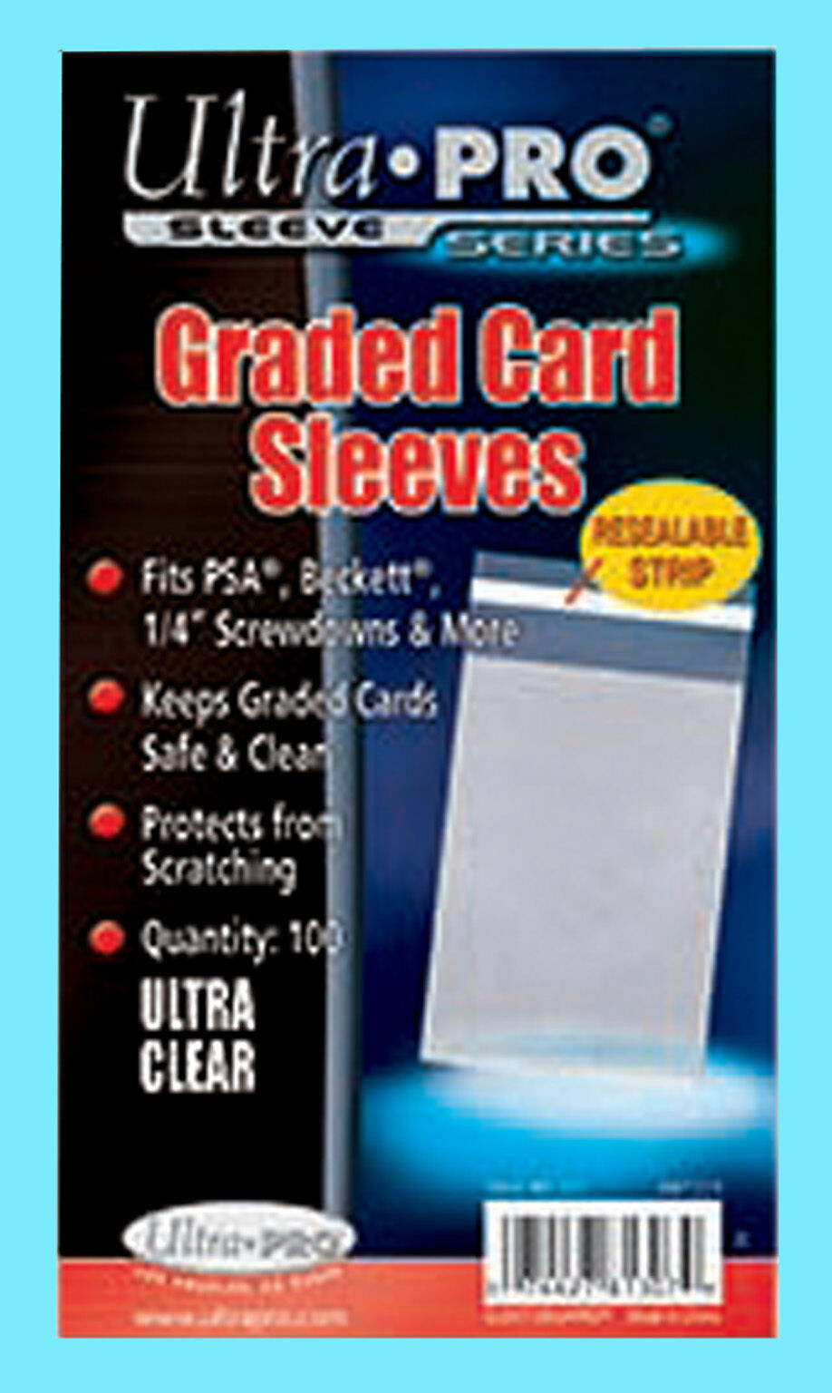 Pack of 1500 BCW Resealable Graded Baseball Trading Card Poly Sleeves bags
