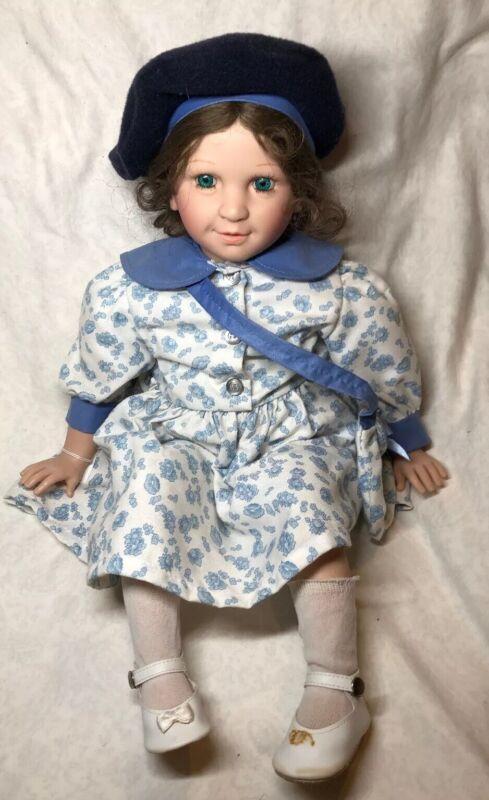 "18"" Vinyl & Cloth Corolle Limited French Doll 94E2 Adorable Brunette Refabert #B"