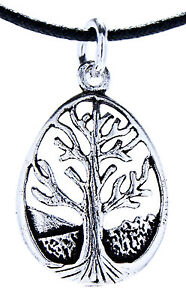 N-101-arbol-de-la-vida-colgante-plata-925-Cadena-Yggdrasil-MUNDO-Ovalo-pequeno