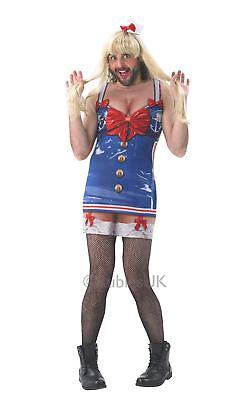 Herren Frech Matrose Kostüm Marineblau Mädchen Sexy Junggesellen Party Do Outfit
