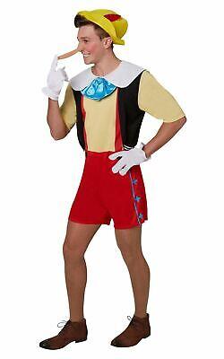 Men's Pinocchio Fancy Dress Costume