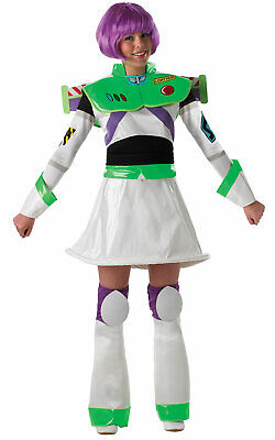 Buzz Lightyear Costume Womens (Womens Ladies Miss Buzz Lightyear Fancy Dress Costume Outfit Pixar Toy)
