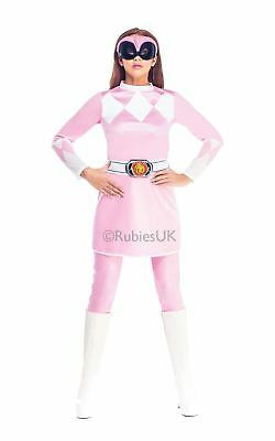 Damen Rosa Power Ranger Mighty Morphin TV-Show Cosplay Kostüm Outfit Maske