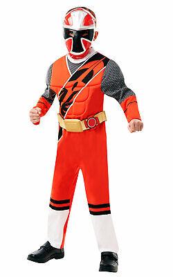 Power Ranger Fancy Dress (Child Deluxe Red Ranger Fancy Dress Power Rangers Superhero)