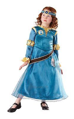 Mädchen Deluxe Merida Mutig Disney Prinzessin Kinder Film Kostüm Maskenkostüm