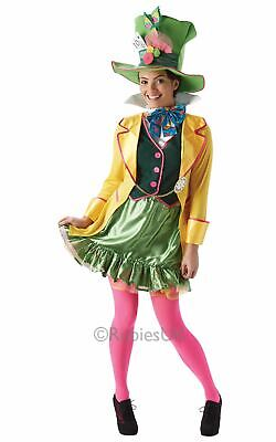 Mad Hatter Disney Licensed Womens Costume Ladies Fancy Dress Outfit Fairytale](Lady Mad Hatter Costume)
