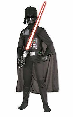 Boys Darth Vader Costume Kids Disney Star Wars Fancy Dress Outfit Licensed