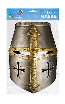 Knight Helmet Face Party Mask Card A4 Fancy Dress History Ladies Men Kids Battle](Kids Knight Helmet)