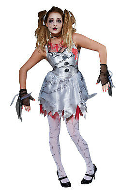 Rubies Ladies Horror Spooky Dead Doll Halloween Fancy Dress Costume Outfit - Spooky Doll Kostüm