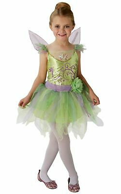 Girls Tinkerbell Costume Kids Disney Peter Pan Fancy Dress Fairytale Licensed ()