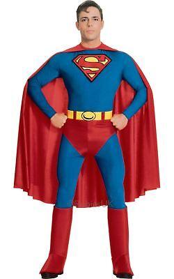 Herren Superman klassisch Superheld Man of Steel Film TV Kostüm Kleid Outfit