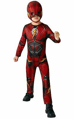 Boys Flash Costume Kids Marvel DC Comics Superhero Fancy Dress Outfit  Licensed