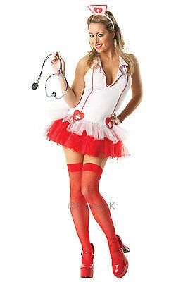 Ladies Sexy Naughty Nurse Medic Fancy Dress Halloween Costume Festival CLEARANCE