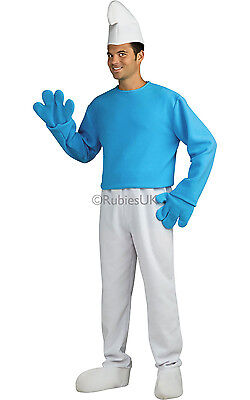 The Smurfs Adult Halloween Costume Standard One Size up to 44 #1285 - Halloween Costumes Smurfs