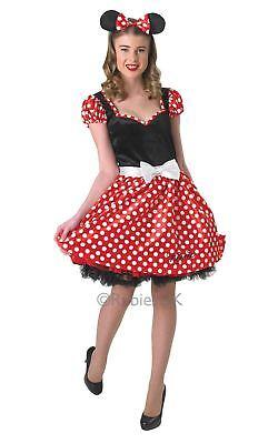 Disney Damen Sassy Minnie Maus Damen Erwachsenenkostüm Outfit