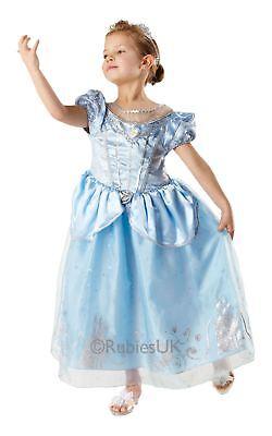 Mädchen Jahrestag Cinderella Disney Prinzessin Kostüm Kleid Outfit & (Cinderella Prinzessin Tiara)