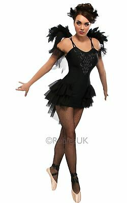 Womens Halloween Black Swan Ballet Costume Ladies Fancy Dress Outfit (Black Swan Halloween Outfit)