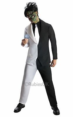 Adult Batman Villain Two-Face Mens Halloween Fancy Dress Costume Party (Two Face Kostüm)