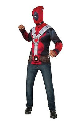 Official Classic Deadpool Top Superhero Fancy Dress Costume Outfit M-XL](Official Superhero Costumes)