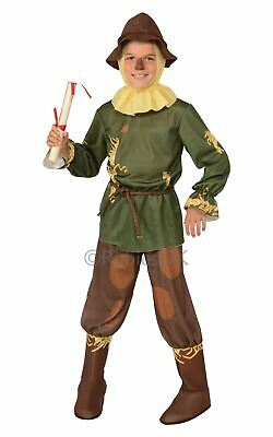 Wizard Of OZ Scarecrow Boys Book Week Fancy Dress Childs Costume Kids Licensed (Scarecrow Kostüme Boy)