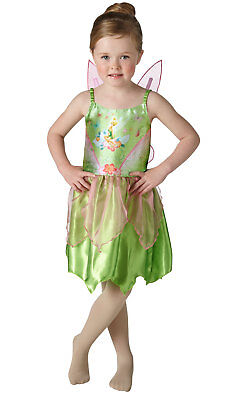 Girls Kids Childs Classic Tinkerbell Fancy Dress Costume Outfit Rubies Peter - Classic Tinkerbell Kostüm