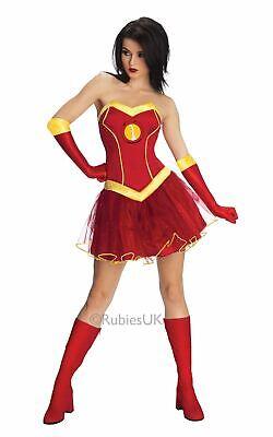 Womens Marvel Ironman Rescue Fancy Dress Costume Pepper - Pepper Potts Rescue Kostüm