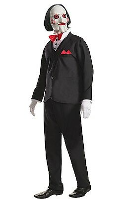 Billy The Puppet Kostüme (Official Saw Billy the Puppet Halloween Fancy Dress Costume Size M-XL)