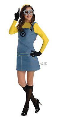 Damen Minion Despicable Me 2 Film Minions Gelb Kostüm Kleid Outfit - Despicable Me Damen Kostüm