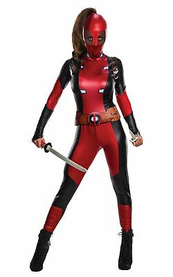 Deadpool Womens Costume offical Licensed Fancy Dress Ladies Outfit ()