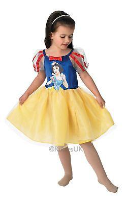 Mädchen Schneewittchen Disney Prinzessin Ballerina Tutu Kinder Kostüm - Schneewittchen Ballerina Kostüm