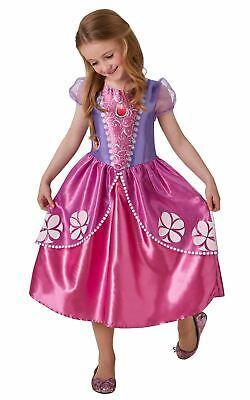 Girls Sofia Costume Kids Disney Princess Fancy Dress Fairytale Licensed Dressup](Kids Dressup Clothes)