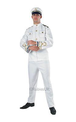 Herren Marine Offizier Uniform Matrose Marine Weiß Kostüm - Weißer Offizier Hut