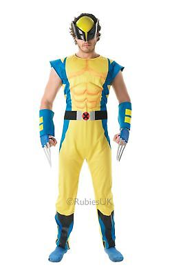 Xmen Kostüme (MENS DELUXE WOLVERINE X-MEN XMEN COMIC TV SUPERHERO COSPLAY FANCY DRESS COSTUME)