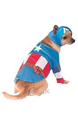 ANIMALS CAPTAIN AMERICA DOG SUPER HERO MARVEL COSTUME USA CUTE FURRY FANCY DRESS