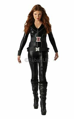 Black Widow Womens Costume DC comics Marvel Superhero Fancy Dress outfit (Marvel Comic Fancy Dress Kostüme)