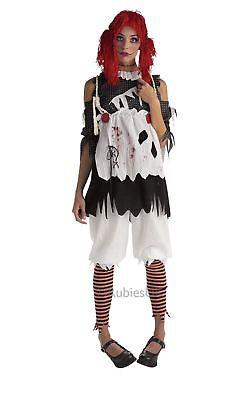 Damen Halloween Gruselig Stoffpuppe Mädchen Erwachsene Unheimlich Kostüm - Unheimliche Kostüm Mädchen