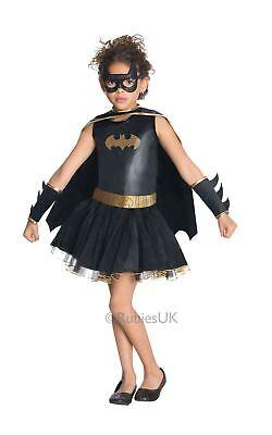 Mädchen Batman Kostüme (Mädchen Batgirl Superheld Batman Tv Film Black Kids Kostüm Kleid Outfit)