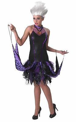 Ursula Ladies Halloween Fancy Dress Costume Stunning Disneys Little Mermaid Evil (Disney Ursula Halloween Costume)