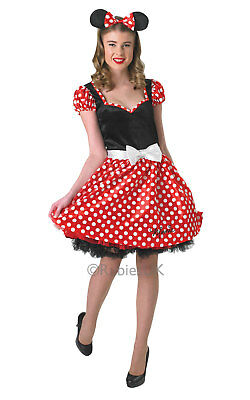 SALE! Adult Sassy Disney Minnie Mouse Ladies Fancy Dress Costume Party Outfit  - Minnie Mouse Outfit For Women