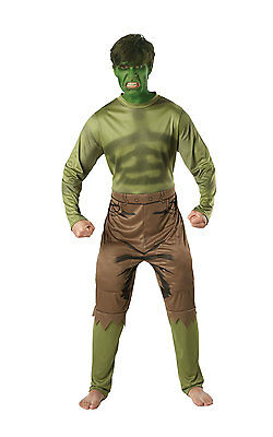 MARVEL LICENSED ADULT DELUXE HULK OUTFIT FANCY DRESS SUPERHERO THE - Adult Deluxe Hulk Kostüm