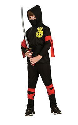 Boys Ninja Costume Fancy Dress Warrior Martial Arts Kids Child Outfit