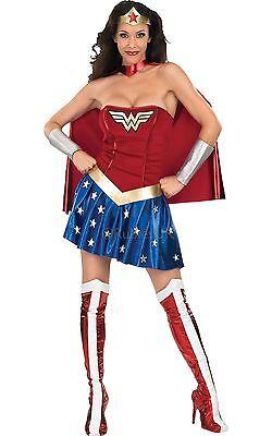 Wonder Woman, Superheld, Damen Deluxe Offiziell Lizenziert Kostüm (Offizielle Wonder Woman Kostüm)