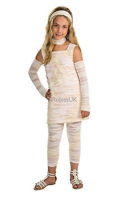 Weiß Kinder Mädchen Mumie Ista Ägypter Halloween Kostüm Kinder Outfit