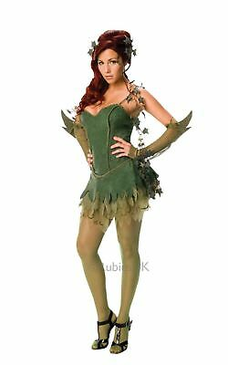 Damen Poisen Ivy Batman Bösewicht Superheld Cosplay Kostüm Kleid Outfit