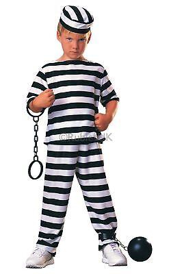 Jungen Sträfling Gefangener Prison Inmate Criminal Gestreift Kostüm - Gefangene Outfits
