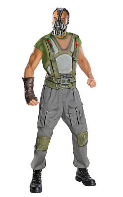 Bane Adult Kostüme (Deluxe Bane Fancy Dress Costume Outfit Halloween Cosplay Adult Mens Male M To XL)