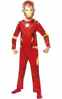 Boys Iron Man Costume Kids Marvel DC Comics Superhero Fancy Dress Outfit  Licens