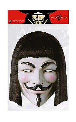 V For Vendetta Face Party Mask Card A4 Fancy Dress Horror Fi