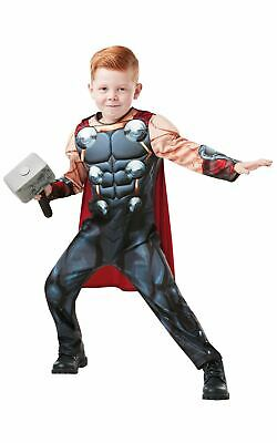 Thor Boys Costume Kids Marvel DC comics Justice League Fancy Dress Outfit