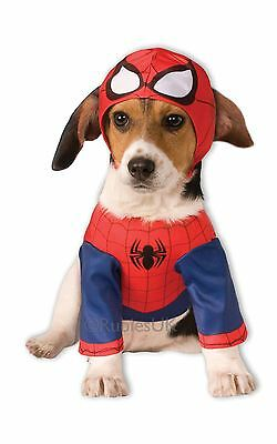 Hund Spiderman Kostüm (Tiere Spider-Man Hund Kostüm Netz Schwinger Marvel Hero süß lustig gemütlicher)